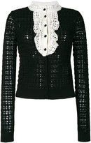 RED Valentino crochet knit cardigan