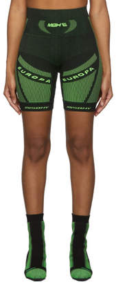 Misbhv Black and Green Active Future Shorts