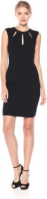 GUESS Women's Sweater Knit Bodycon Dres with Cutouts
