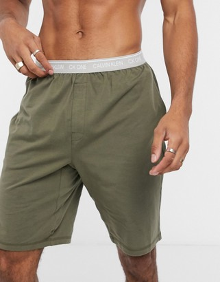 Calvin Klein One lounge shorts in khaki