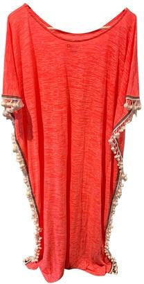 Pitusa Orange Cotton - elasthane Dress for Women