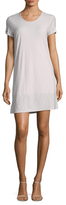 James Perse Cotton Rolled Sleeve T-Shirt Dress