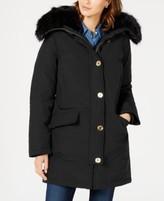 Michael Kors Michael Faux-Fur Trim Down Parka Coat, Created for Macy's