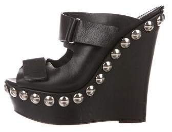 Giambattista Valli Leather Embellished Wedges