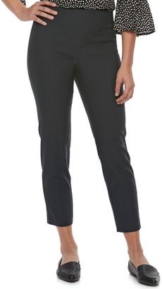 Elle Women's Pull-On Skinny Fit Ankle Dress Pants
