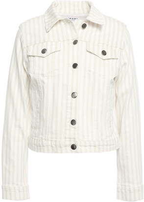 Frame Le Vintage Striped Denim Jacket