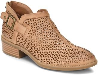 Comfortiva Leather Cutout Booties - Cantara