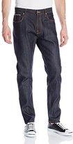 Nudie Jeans Men's Brute Knut Jean In Dry Orange Selvedge, 31x32