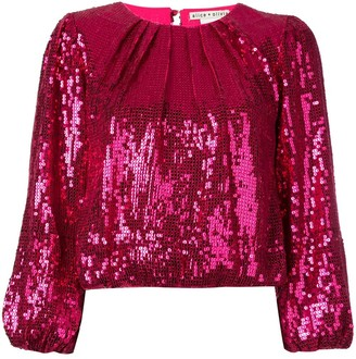 Alice + Olivia Avila sequinned top