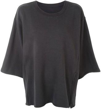 Y's Oversized Zipped Sweatshirt