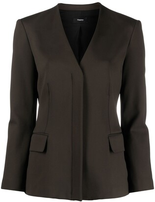 Theory Zip-Front Single-Breasted Jacket