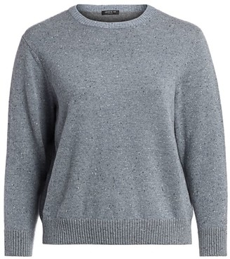Lafayette 148 New York, Plus Size Donegal Wool Sweater