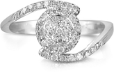 Forzieri 0,35 ctw Diamond Pave 18K White Gold Ring