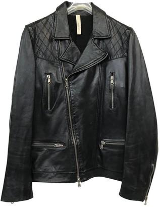 Le Sentier Black Leather Leather Jacket for Women