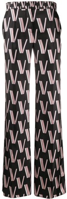Valentino Double VLOGO palazzo trousers