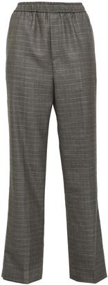 GOEN.J Prince Of Wales Checked Wool-blend Straight-leg Pants