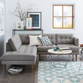 west elm Peggy Mid-Century Terminal Chaise Sectional