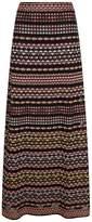 M Missoni Knitted Aztec Print Maxi Skirt