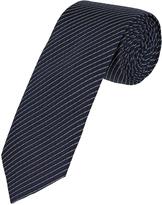 Oxford Silk Tie Fine Stripe Reg Navy X