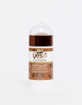 Yes to Coconut & Energizing Coffee 2-in-1 Scrub & Cleanser Stick