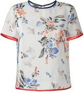 Armani Collezioni floral print T-shirt - women - Silk/Polyester - 42