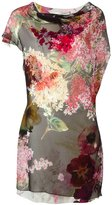 Lanvin draped detail floral dress