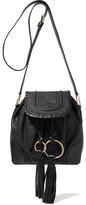 See by Chloe Polly Tasseled Leather Shoulder Bag - Black