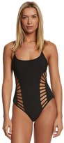 Red Carter Splice & Dice Cut Out Strappy One Piece Swimsuit 8140144