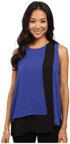 Vince Camuto Sleeveless Color Blocked Layered Blouse