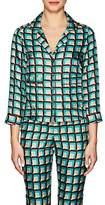 Barneys New York Women's Geometric Silk Pajama Blouse