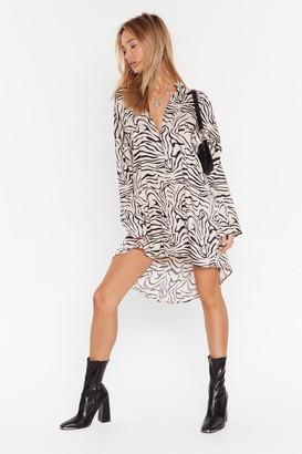 Nasty Gal Womens Pretty Shirts Oversized Mini Dress - Beige