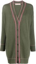 Marni contrast-stitch oversized cardigan