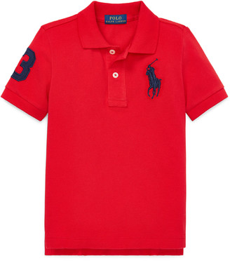 Ralph Lauren Kids Big Pony Mesh Knit Polo, Size 4-7