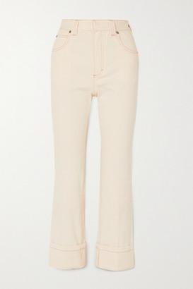 Chloé High-rise Straight-leg Jeans - Ivory