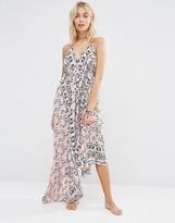 Surf Gypsy Scarf Print Maxi Dress