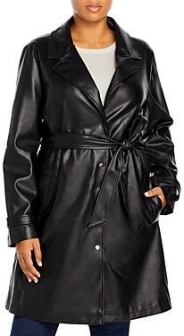 Unreal Fur Plus Size Belted Heroes Coat