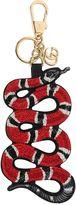 Gucci Embroidered Snake Gg Supreme Key Holder