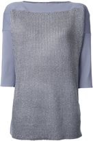 Theatre Products boat neck rib top