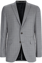 Jaeger Glen Check Slim Fit Suit Jacket, Grey