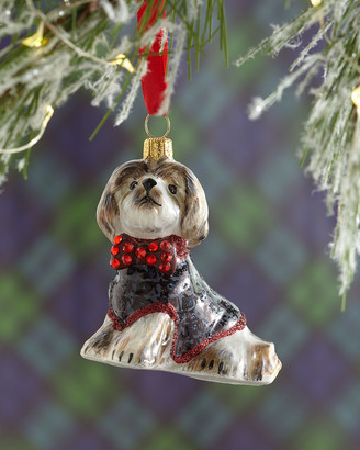 Joy To The World Collectibles Shih Tzu in Houndstooth Jacket Christmas Ornament