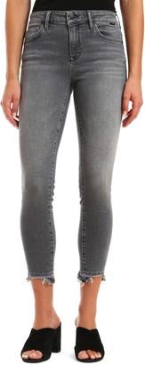 Mavi Jeans Tess High Waist Destroyed Released Hem Ankle Skinny Jeans