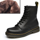 LOVEBEAUTY Women's Leather Lace up Ankle Bootie Winter Military Combat Boots US 6(EU 37)
