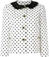 Dolce & Gabbana polka dot brocade jacket
