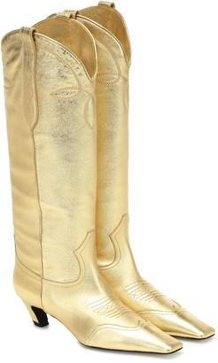 KHAITE Dallas leather Western boots