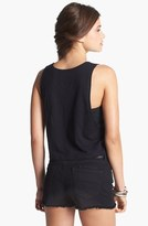 The Rolling Stones Crop Muscle Tank (Juniors) Black X-Small