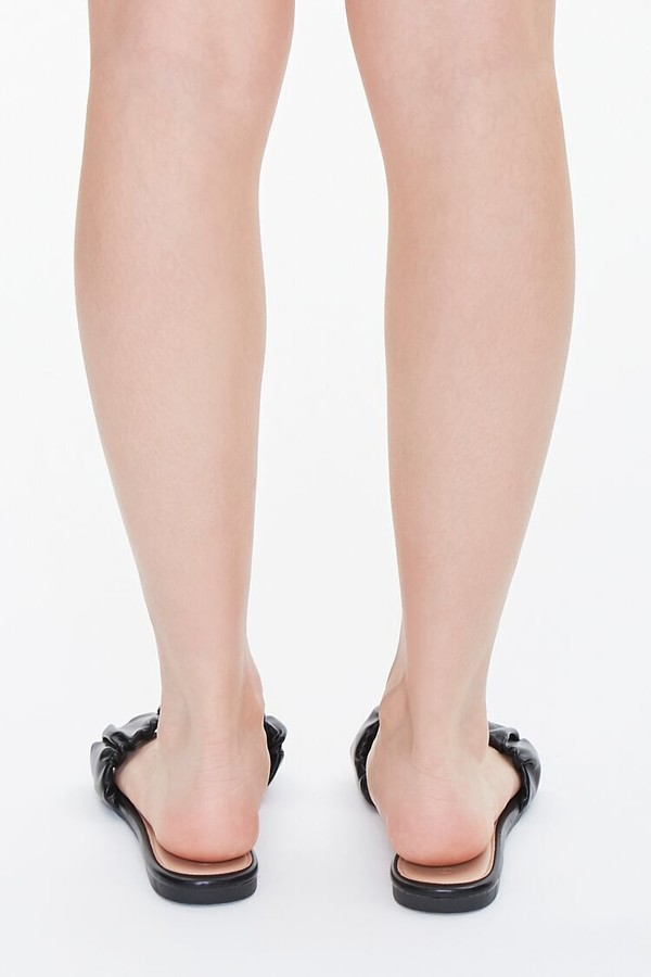 Thumbnail for your product : Forever 21 Faux Leather Ruched Sandals