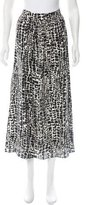 Rachel Zoe Leopard Print Silk Skirt