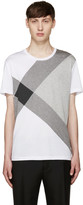 Burberry White Foster Check T-Shirt
