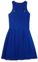 Sally Miller Girls' Pleated Cutout Knit Dress - Sizes S-XL