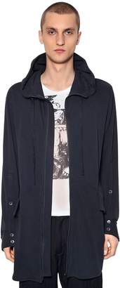 Ann Demeulemeester Long Zip-up Cotton Sweatshirt Hoodie